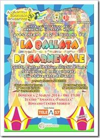 II Edizione La Ballata di Carnevale 2014