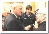 Galantino con il capo della sicurezza di Papa Francesco