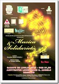 Locandina evento Musica e Solidarietà del 26 luglio 2014